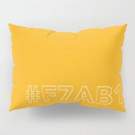 #F7AB11 [hashtag color] Pillow Sham