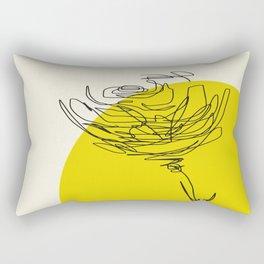 line drawing - flower Rectangular Pillow