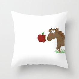 Horse Food Throw Pillow