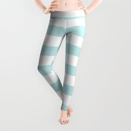 Simply Striped in Succulent Blue and White Leggings