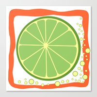 coasters Canvas Prints featuring LIME by Tanya Pligina