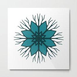 Flower Roots Wreath (Green) Metal Print