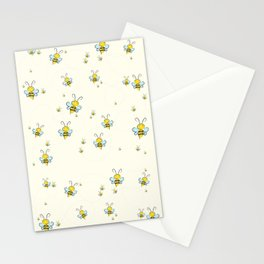 Bee Pattern, Clipart Vector, For kid, Nursery Pattern Stationery Cards