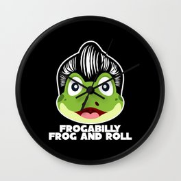 Rockabilly Frog With Funny Saying Wall Clock
