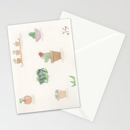 Mini Watercolor Cacti Cards Stationery Cards