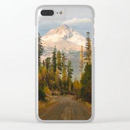 Autumn Mount Hood Scene Clear iPhone Case