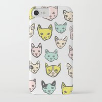 kittens iPhone & iPod Cases featuring Kittens by Elisa MacDougall