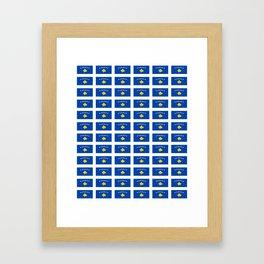 Flag of kosovo -Kosova,Kosovar,Kosovan,balkan,yugoslavia,Pristina Framed Art Print