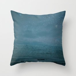 Stary Night Iceland Throw Pillow