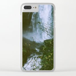 Waterfalls are neat, I'm very into nature Clear iPhone Case