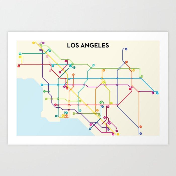 Los Angeles Freeway System Art Print