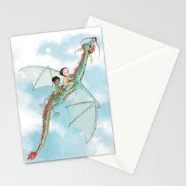 Dragon Flight at Day Break Stationery Cards
