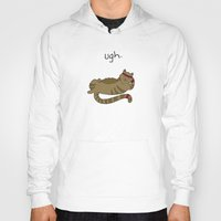 caleb troy Hoodies featuring Crunch Cat by Caleb Croy by UCO Design