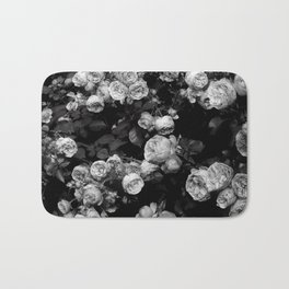 Roses are black and white Bath Mat