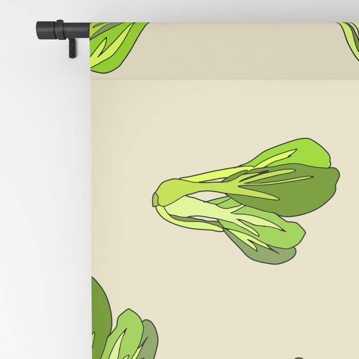 Lettuce Bok Choy Vegetable Blackout Curtain