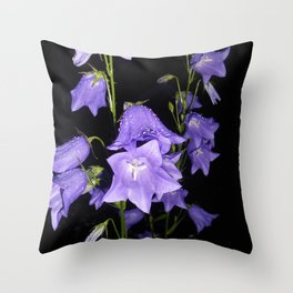 Flowers in Purple Throw Pillow