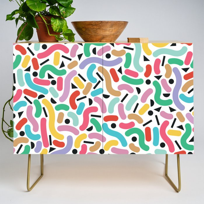 Summer Rainbow Squiggles Credenza