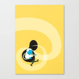 Make it up as you go along - yellow Canvas Print