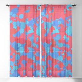 Abstract Shapes Colorful Art Retro Pattern Sheer Curtain