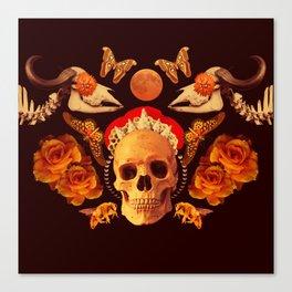 Skull Symmetry collage Canvas Print