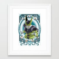 dragonball z Framed Art Prints featuring DragonBall Z - Android House by Art of Mike