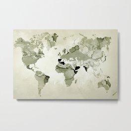 Design 123 World Map Metal Print