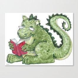 Dragon A Book OUt Canvas Print