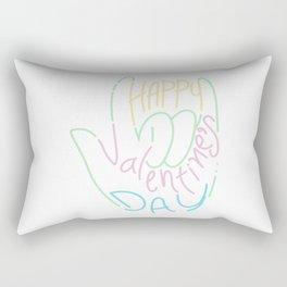 I love you hand sign. Rectangular Pillow