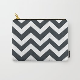 Gunmetal - grey color - Zigzag Chevron Pattern Carry-All Pouch