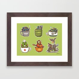 Jaegers in a cup Framed Art Print