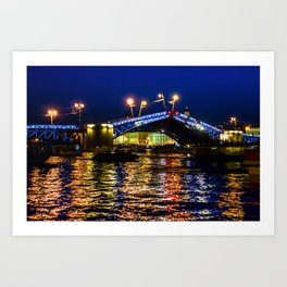 Raising bridges in St. Petersburg Art Print