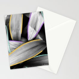 Coming Out of Make-up II - Tropical Leaves Modern Mixed Media Photography Illustration Stationery Cards