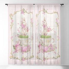 Bunny Tea Party Sheer Curtain