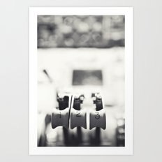 Thrust Levers in Black and White Art Print