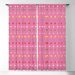 Shimmering colorful sprinkles pattern aligned on pink background Blackout Curtain