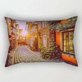 Strollin In Olde Towne Rectangular Pillow