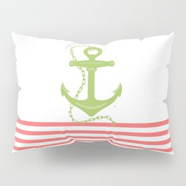 AFE Green Nautical Anchor Pillow Sham