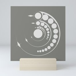 alien crop formation, sacred geometry Mini Art Print