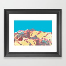 She came down from the mountain ... and she was pissed! Framed Art Print