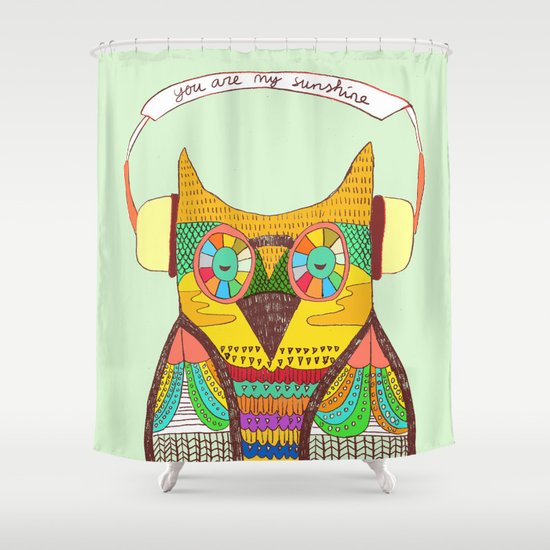 The Owl rustic song Shower Curtain