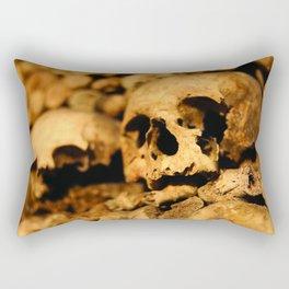 Skulls in the catacombs of Paris, France. Rectangular Pillow