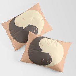 Hidden cat 9 Yin Yang kitty Pillow Sham