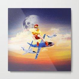 Board The Plane Metal Print