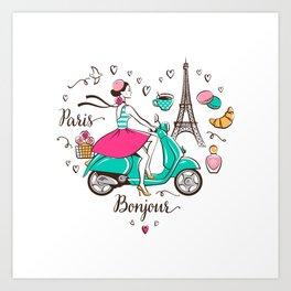 Paris is love Art Print
