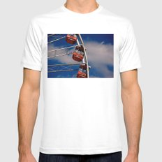 The Wheel Mens Fitted Tee White MEDIUM