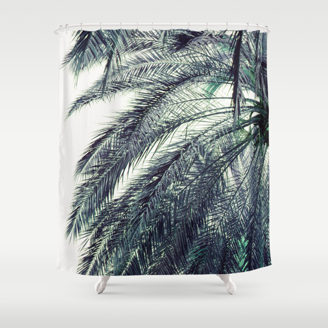 Palm shower curtain - Palm Shower Curtain 47