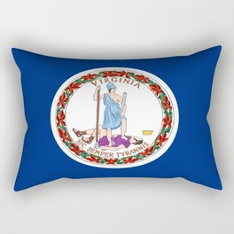 flag virginia,america,usa,south,Dominion,Mother of Presidents,Mother of States,Pocahontas Rectangular Pillow