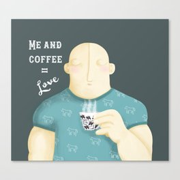 Me and coffee - Illustration Canvas Print