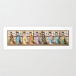 Eeveelution Girls Art Print