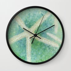 Seastars Wall Clock